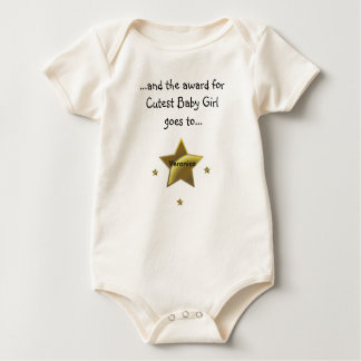 Cutest Baby Girl-Veronica Baby Bodysuit