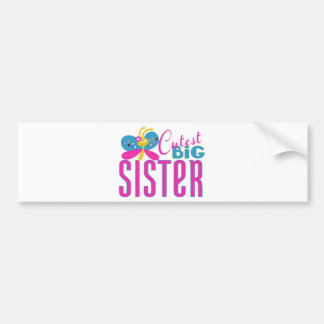 Cutest Big Sister - Butterfly Bumper Sticker