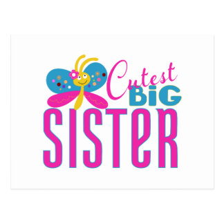 Cutest Big Sister - Butterfly Postcard