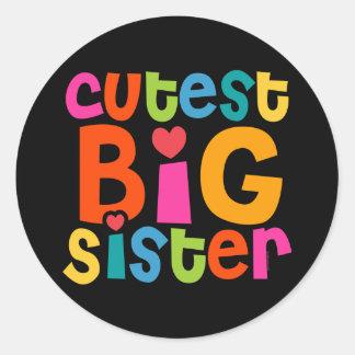 Cutest Big Sister Classic Round Sticker