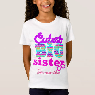 Cutest Big Sister Custom Name - T-Shirt