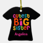 Cutest Big Sister Personalized Ornament