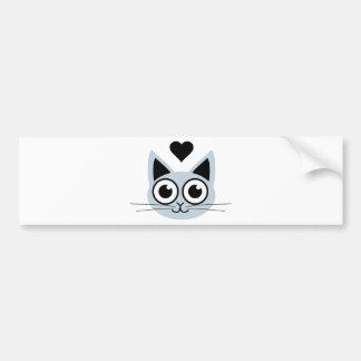 Cutest Blue Cat Bumper Sticker