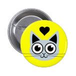 Cutest Blue Cat Buttons