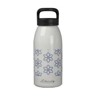 Cutest Blue Flower Pattern Water Bottle
