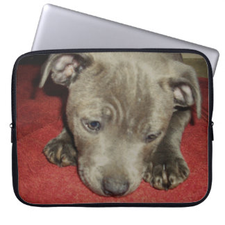 Cutest_Blue_Staffy_Puppy,_15_Inch_Laptop_Sleeve Computer Sleeve