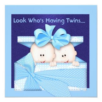 Cutest BOY TWINS BABY SHOWER  INVITATION