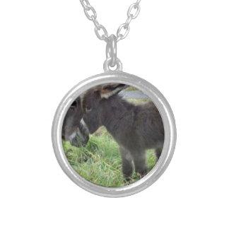 cutest burro round pendant necklace