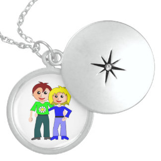 CUTEST COUPLE LOCKET NECKLACE