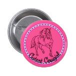 Cutest Cowgirl 2 Inch Round Button