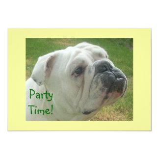 Cutest English Bulldog Party Invitations