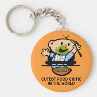 Cutest Food Critic Keychain