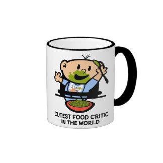 Cutest Food Critic Ringer Coffee Mug