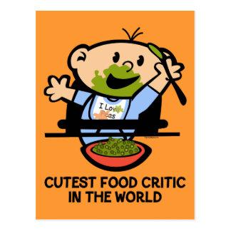 Cutest Food Critic Post Card