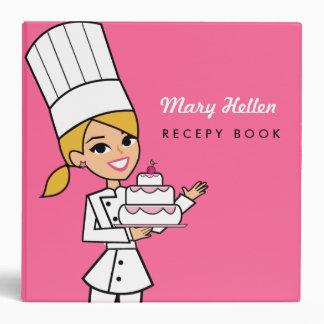 Cutest Girl Chef Recipe Binder