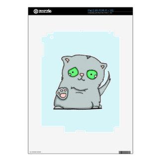 Cutest green-eyed grey kitten skin for the iPad 2