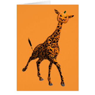 Cutest Halloween Giraffe Greeting Card