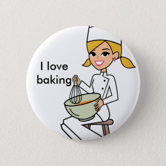 Cutest I love Baking Button with Kitchen Art