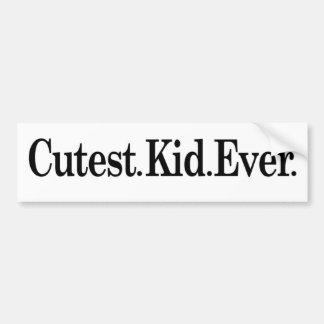 Cutest Kid Ever Bumper Stickers
