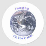 Cutest Kid on the Planet Round Stickers