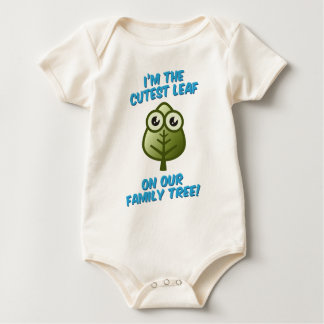 Cutest Leaf On Tree Baby Bodysuit