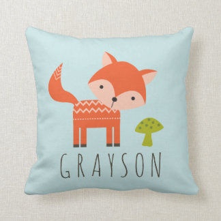 Cutest Little Fox Personalized Throw Pillow