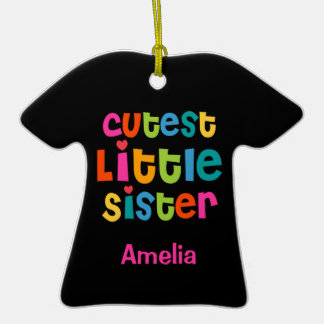 Cutest Little Sister Personalized Ornament