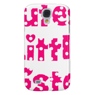 cutest little sister pink polka dot samsung galaxy s4 cover