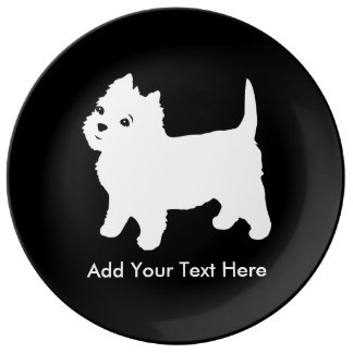 Cutest Little Westie Dog - Westhighland Terrier Dinner Plate