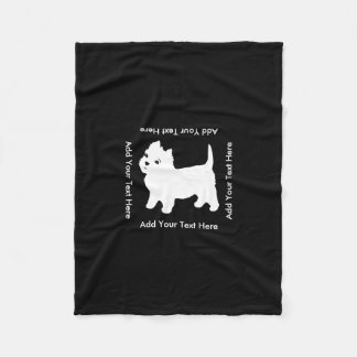 Cutest Little Westie Dog - Westhighland Terrier Fleece Blanket
