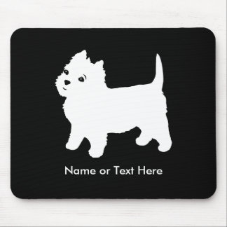 Cutest Little Westie Dog - Westhighland Terrier Mouse Pad