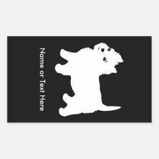 Cutest Little Westie Dog - Westhighland Terrier Rectangular Sticker