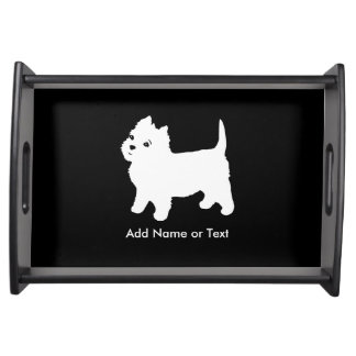 Cutest Little Westie Dog - Westhighland Terrier Serving Tray