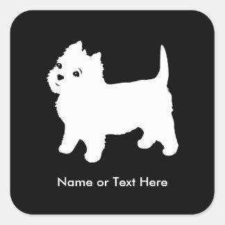 Cutest Little Westie Dog - Westhighland Terrier Square Sticker