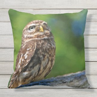 Owl Print Throw Pillow