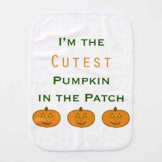 Cutest Pumpkin in the Patch burp cloth