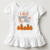 Cutest Pumpkin in the Patch Toddler Ruffle Tee