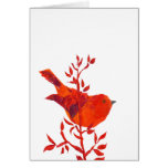 Cutest Red Bird on the planet Greeting Card
