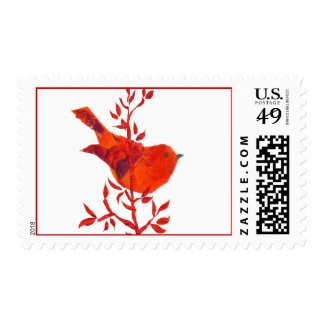 Cutest Red Bird on the planet Postage