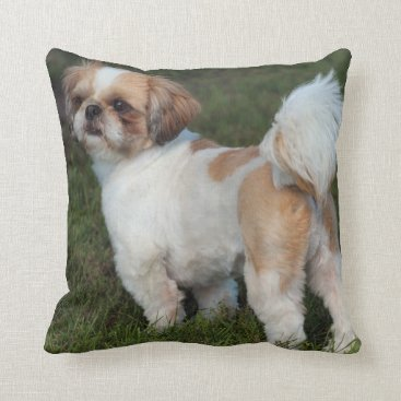 USA Themed Cutest Shih Tzu Throw Pillow