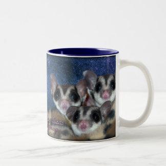 Cutest Sugar Gliders Two-Tone Coffee Mug