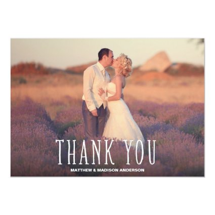 Cutest Thanks | Wedding Thank You Photo Card Personalized Invite