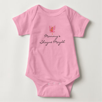 """CUTEST TRENDY """"MOMMY'S SHAYNE MAYDL"""" PINK OUTFIT BABY BODYSUIT"""