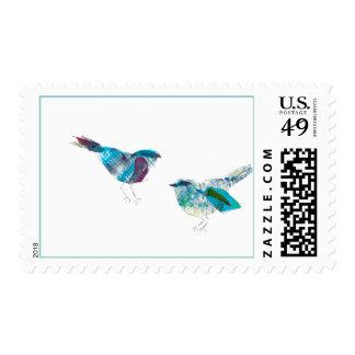 Cutest Twitter Blue Bird Postage
