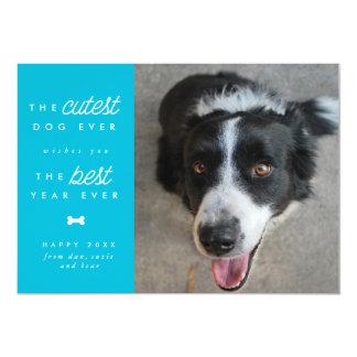 Cutest Year Ever Dog New Year Holiday Card