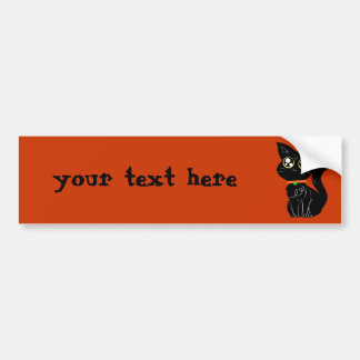 Cutesy Black Kitty Bumper Sticker