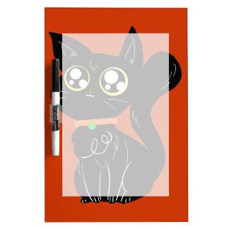 Cutesy Black Kitty Dry Erase Boards