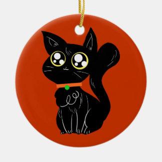 Cutesy Black Kitty Ornaments