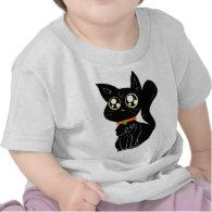 Cutesy Black Kitty Tee Shirts