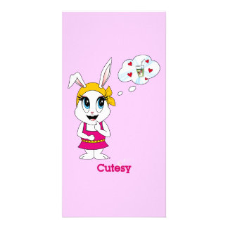 Cutesy Bunny™ Photo Card